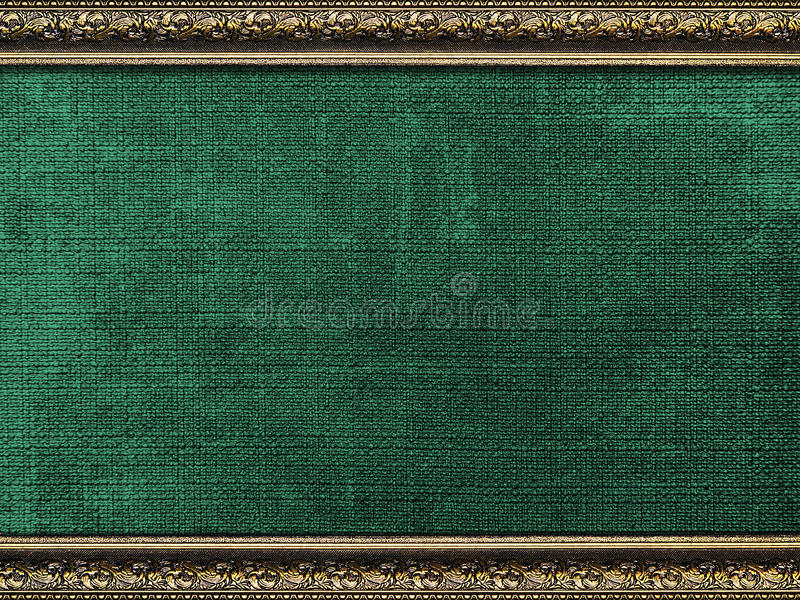 Vintage card in a carved frame stock photography