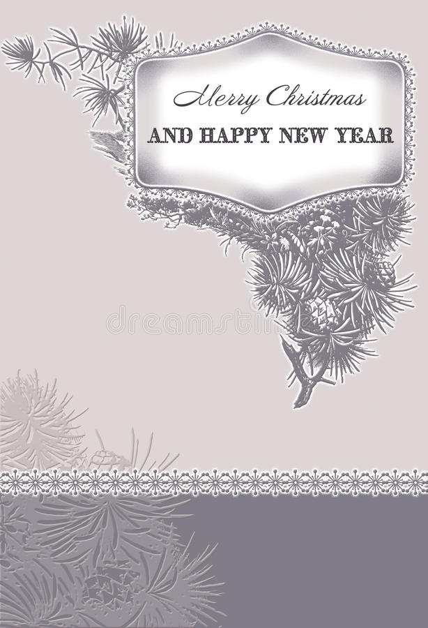 Vintage card christmas stock illustration