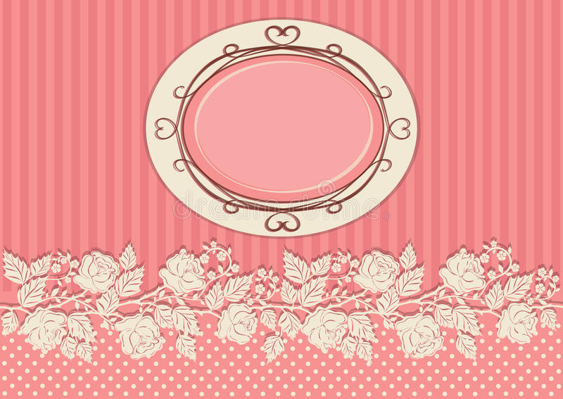Download Vintage Card Decorated With Roses Stock Vector - Image: 33032475