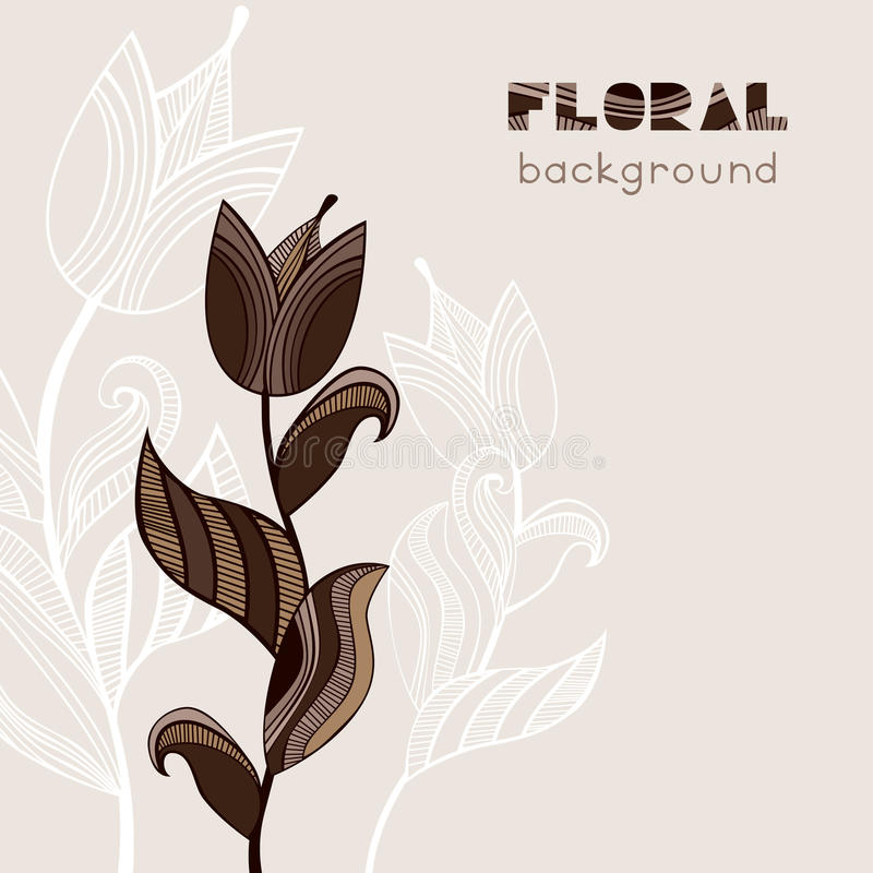 Vintage Retro Floral Card Template. EPS8 Stock Vector