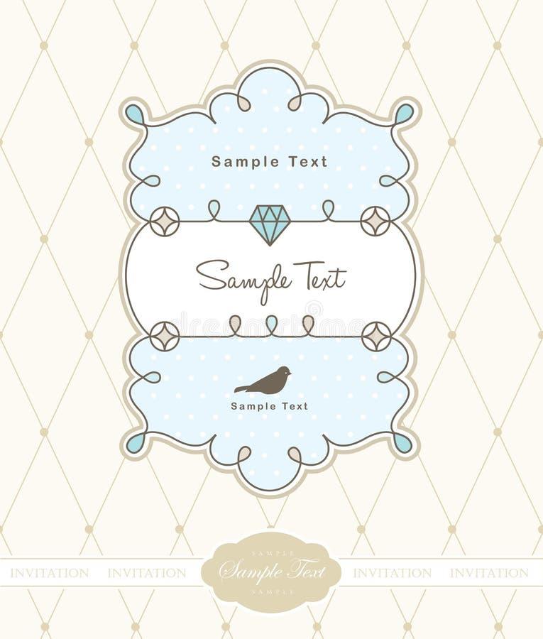 Vintage card design. Fun vintage greeting card template design vector illustration