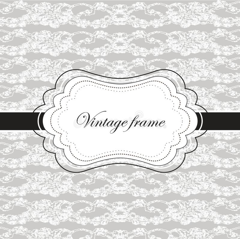 Vintage card with lace vector illustration