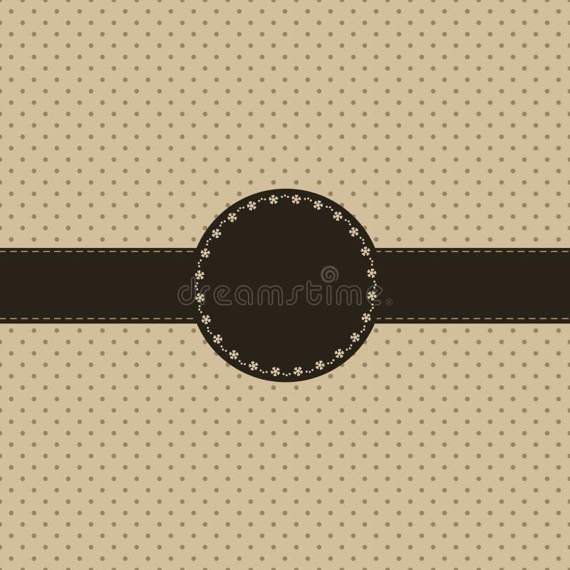 Vintage card, polka dot design royalty free illustration