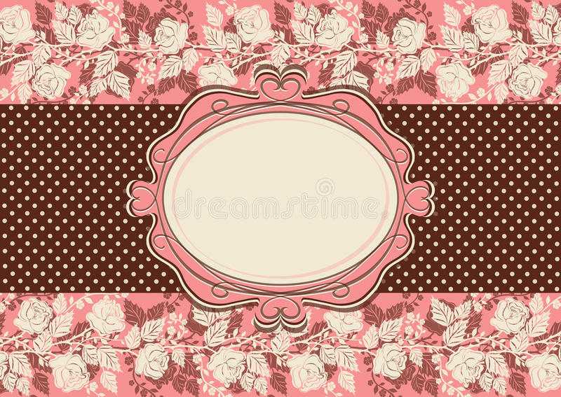 Download Vintage Card With Roses Flowers Royalty Free Stock Image - Image: 33032466