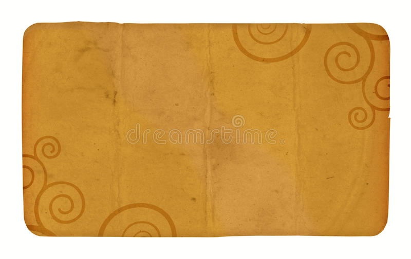 Download A Vintage Card With Spirals Stock Image - Image: 9774131