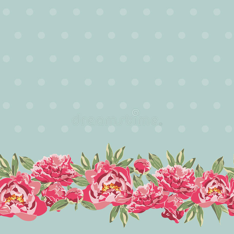 Free Vintage Card With Flowers Stock Photo - 36423260