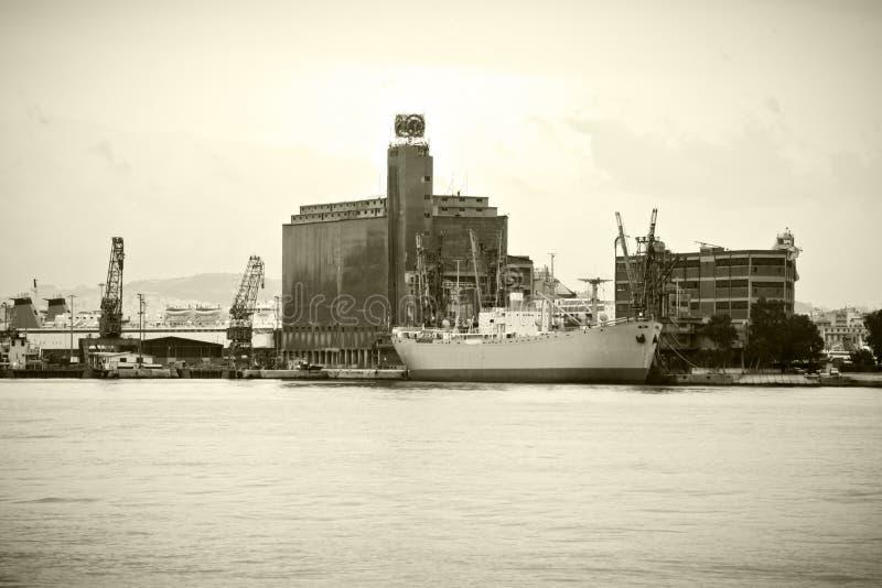 Vintage cargo vessel stock images