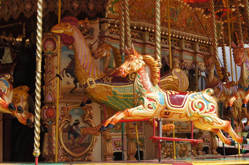 Vintage carousel editorial photo. Image of traditional ...