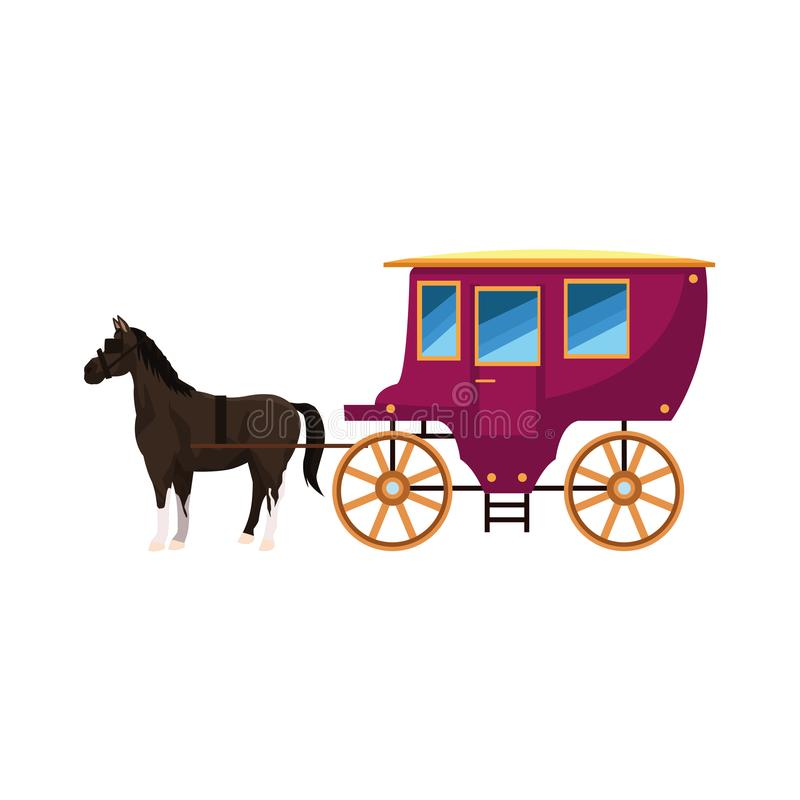 Free Vintage Carriage And Horse Icon, Colorful Design Royalty Free Stock Photo - 165172435