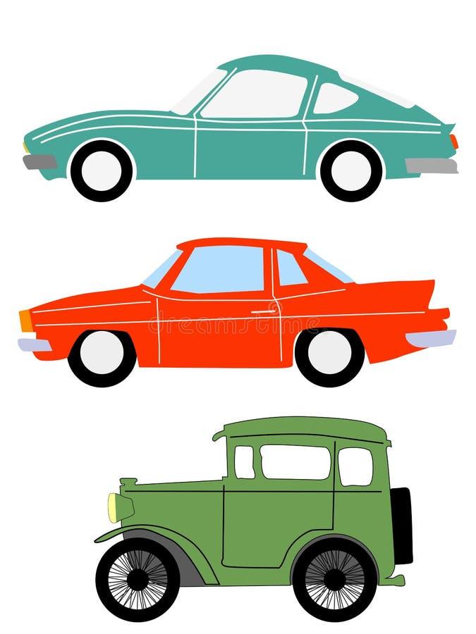 Vintage cars vector illustration