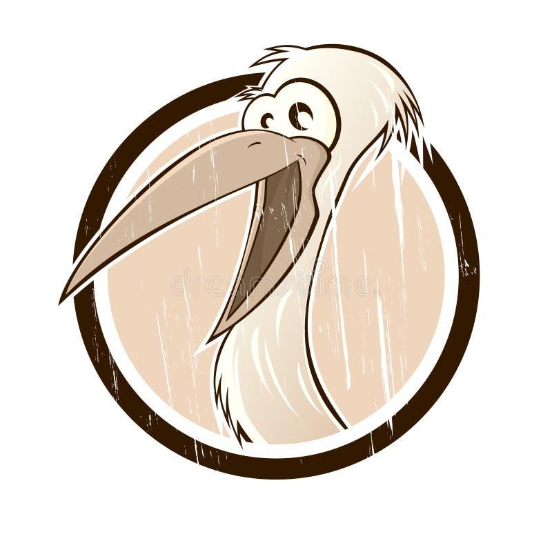 Download Vintage cartoon stork stock vector. Image of motif, mascot - 24446586