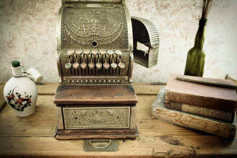Vintage cash register royalty free stock photos