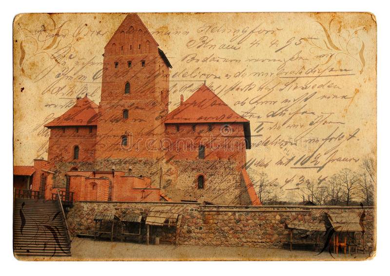 Download Vintage castle postcard stock photo. Image of scenery - 18365686