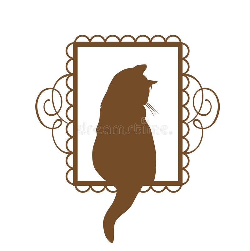Vintage Cat Design illustration stock