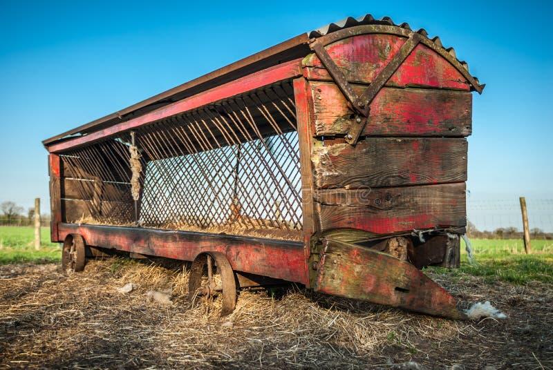 Download Vintage Cattle Feeder stock photo. Image of trailer, rural - 37011720