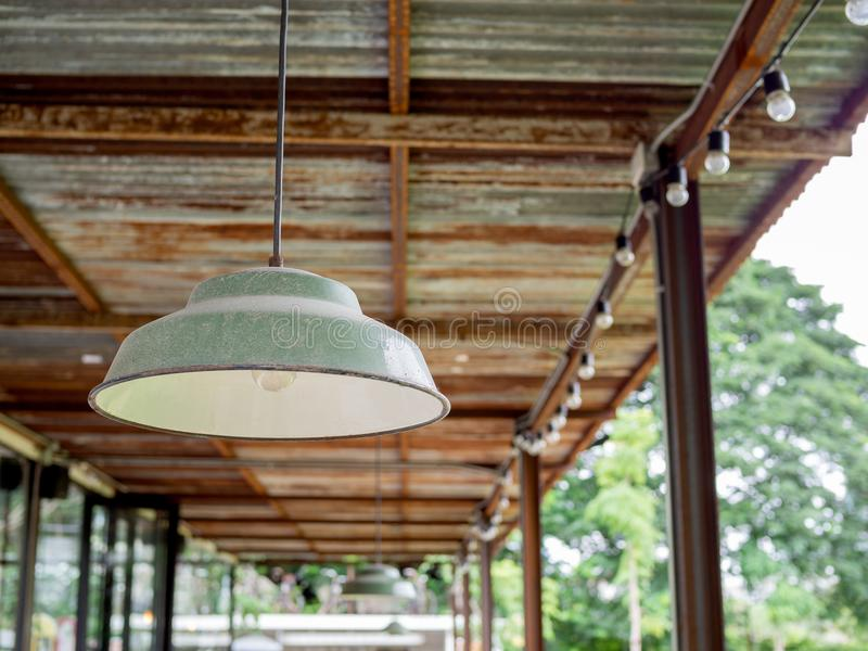 Vintage ceiling lamp royalty free stock photo