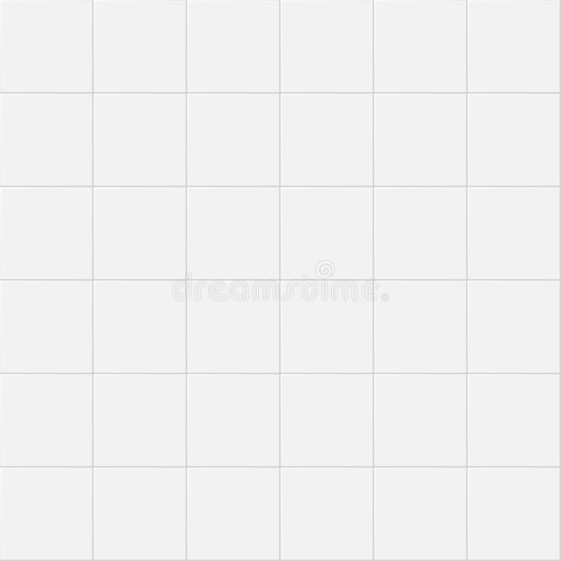Designer White Abstract Ceramic Wall Tile Pack Of 8 L: Vintage Ceramic Kitchen White Wall Tiles. Vector Seamless
