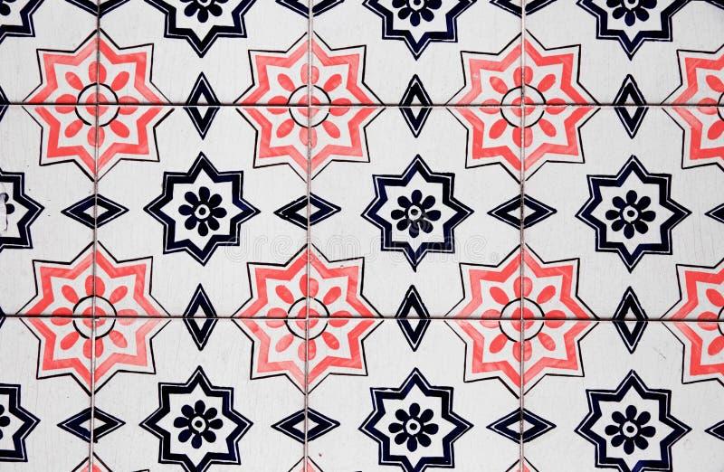 Vintage ceramic tile. Europe,Portugal royalty free stock image