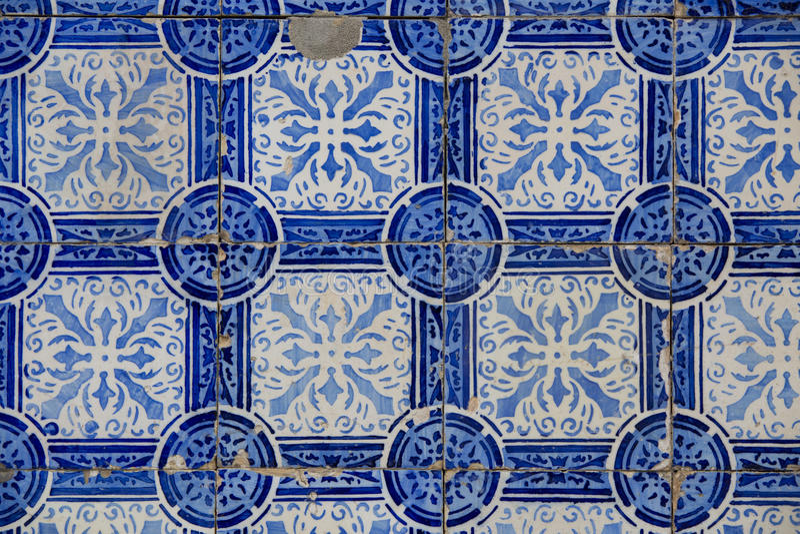 Vintage ceramic tile. Portuguese tile royalty free stock photos