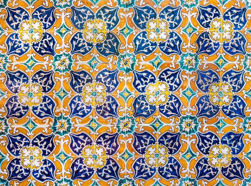 Vintage ceramic tiles background, perfect colorful pattern.  stock image