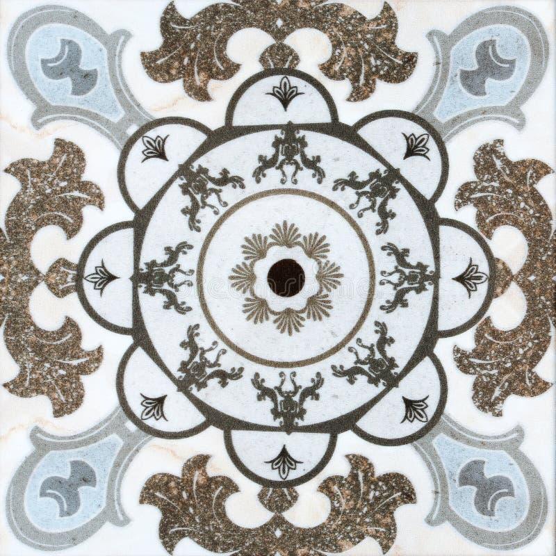 Vintage ceramic tiles wall decoration. The vintage ceramic tiles wall decoration royalty free stock photo