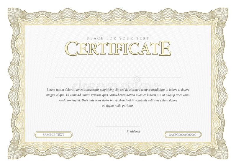 Vintage Certificate Template Diplomas Currency Stock Vector