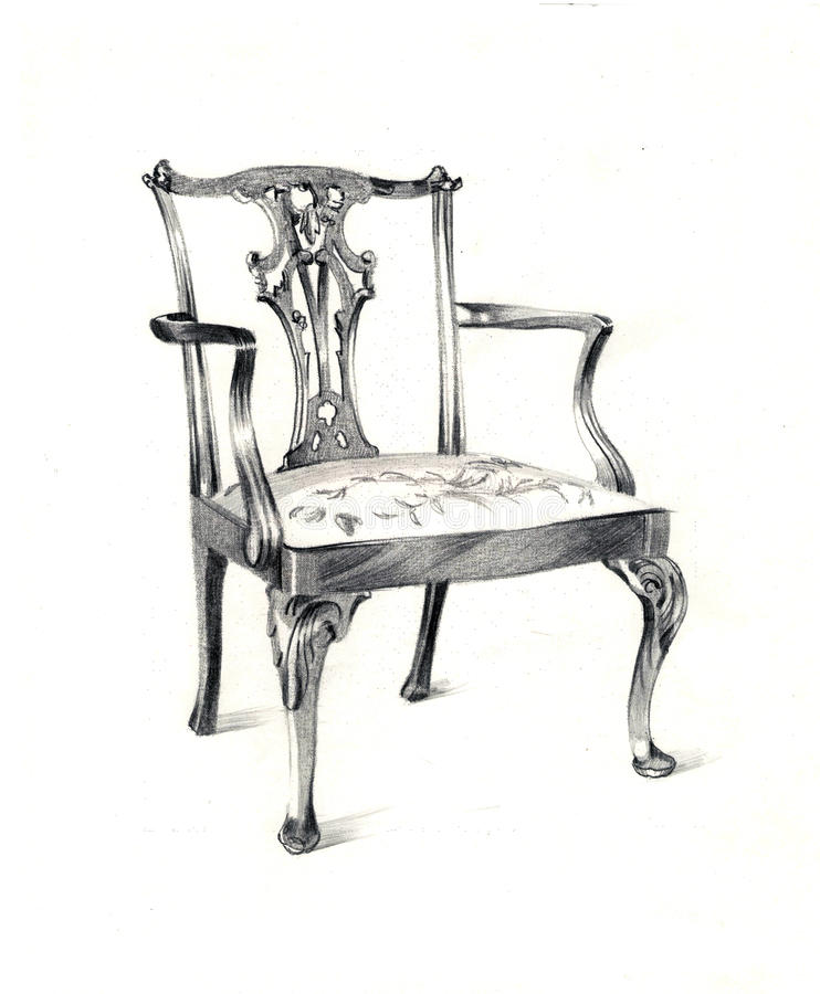Free Vintage Chair, Graphic Design Royalty Free Stock Photo - 48728735