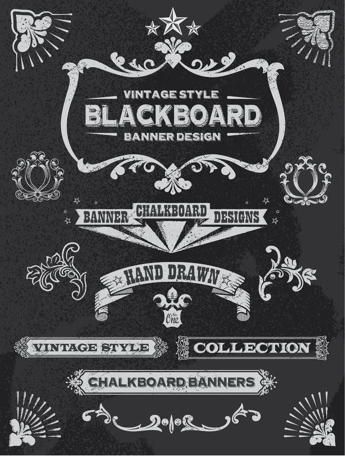 Free Vintage Chalkboard Design Elements Royalty Free Stock Photo - 34978335