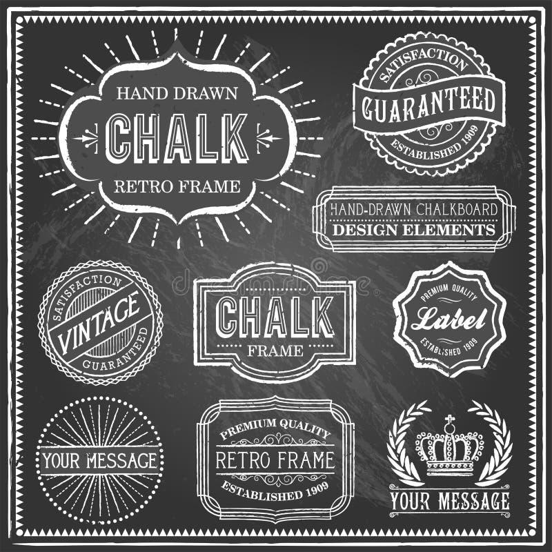 Vintage Chalkboard Frames stock vector. Illustration of ornate ...