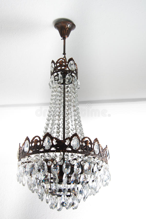 Free Vintage Chandelier Hanging On A White Roof Stock Photo - 14841000