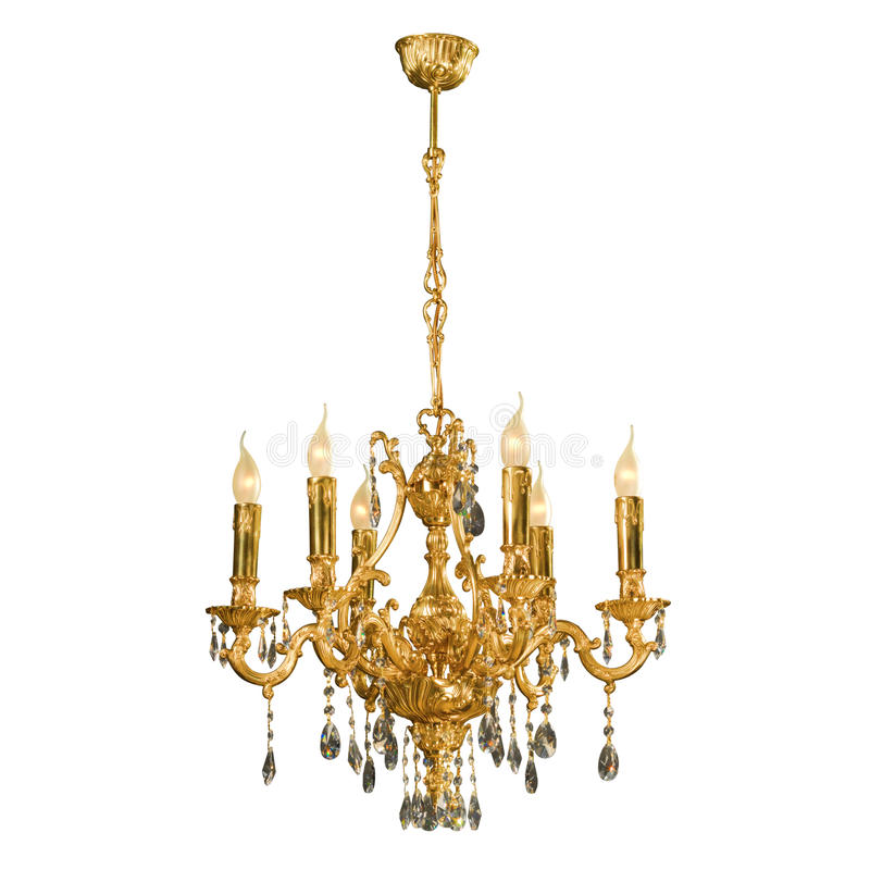 Free Vintage Chandelier Isolated On White Royalty Free Stock Images - 28629749