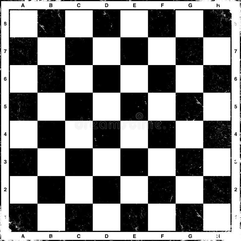 Vintage Chess Board, Vector. Royalty Free Stock Photos