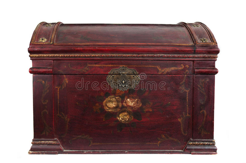 Download Vintage Chest closed stock image. Image of white, isolated - 27225147
