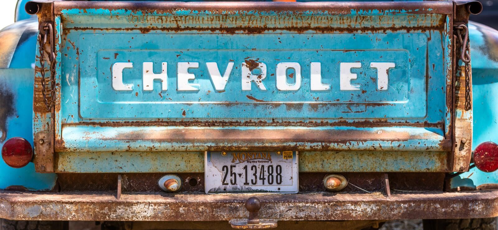 Vintage chevey tailgate royalty free stock images