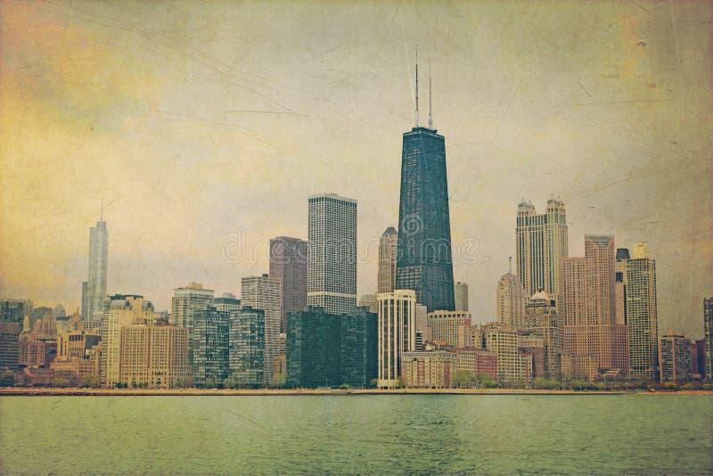 Vintage Chicago ilustração stock