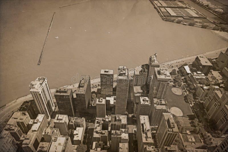 Vintage Chicago foto de stock royalty free