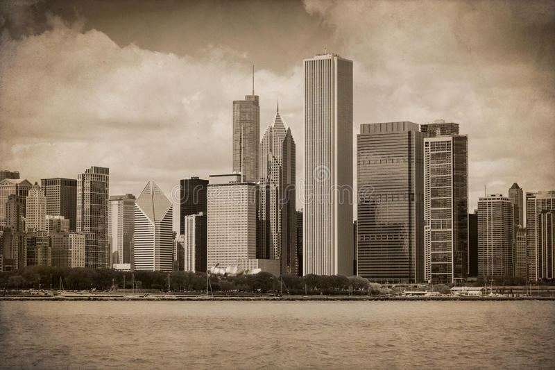 Vintage Chicago foto de stock royalty free