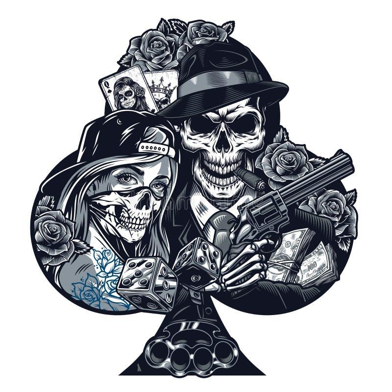 Gangster Girl Stock Illustrations