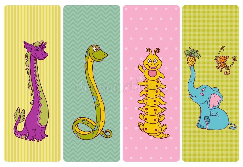 Vintage Children Banner Set vector illustration