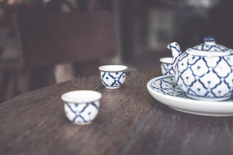 Vintage China cer?mica, porcelana chinesa, grupo de ch? imagens de stock