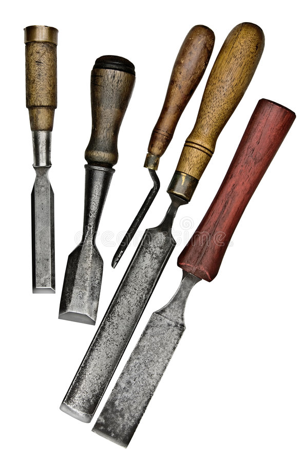 Vintage chisels royalty free stock photos