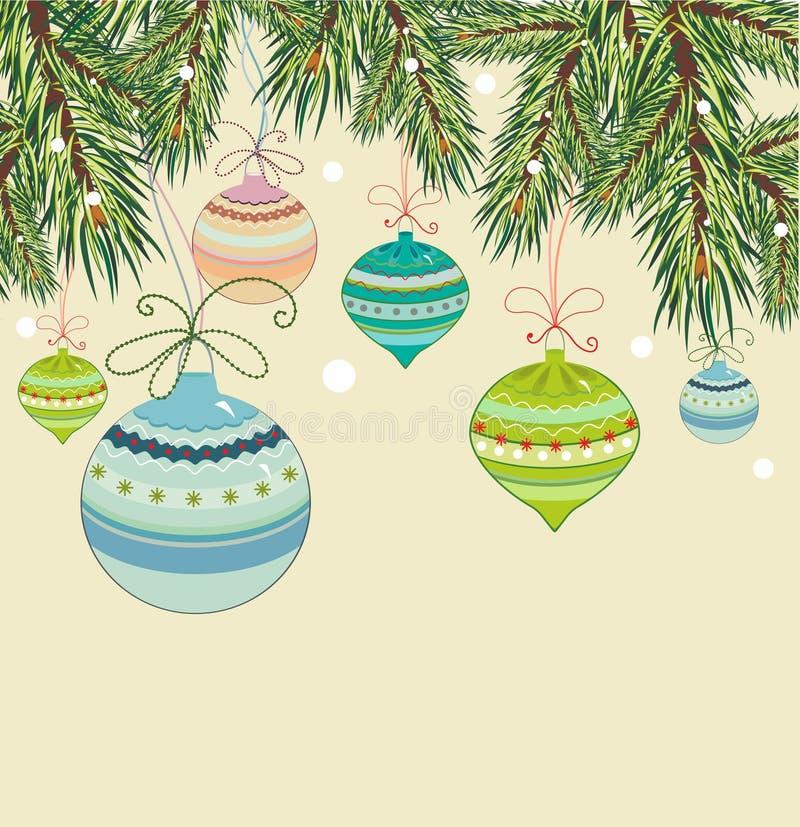 Vintage christmas background royalty free illustration