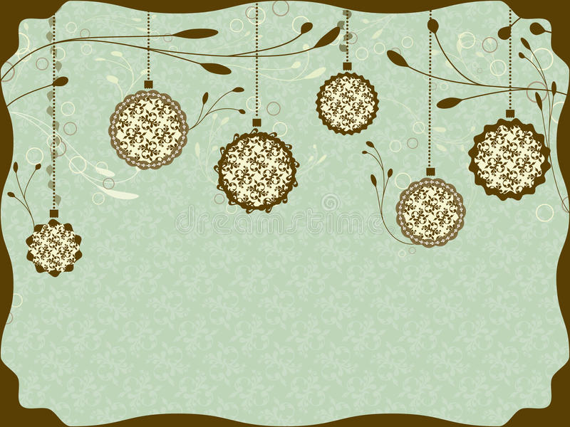 Download Vintage Christmas card stock vector. Image of plant, painting - 21154845
