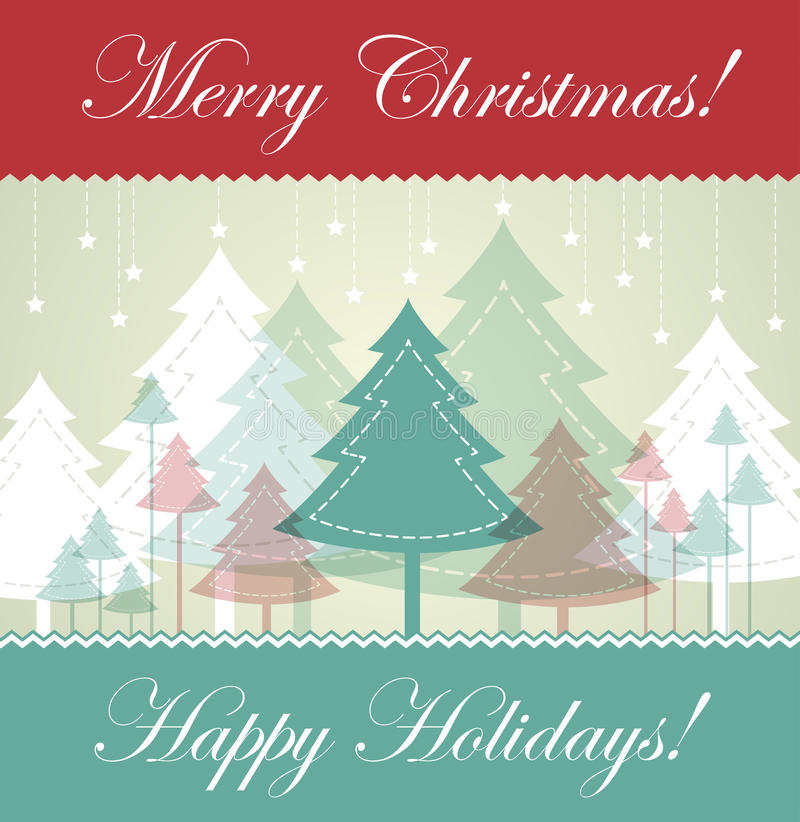 Download Vintage Christmas card stock vector. Image of cover, minimalism - 21823068