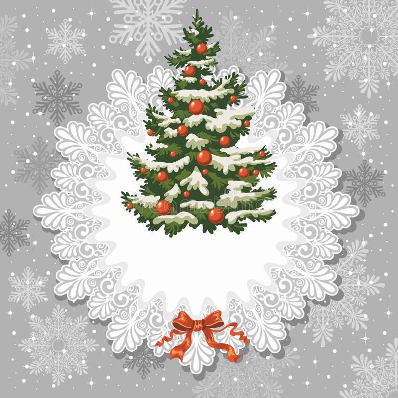 Vintage Christmas card royalty free illustration