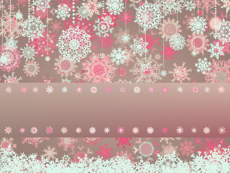 Download Vintage Christmas Card With Snowflakes. EPS 8 Stock Vector - Image: 22035214