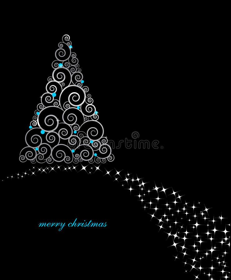 Free Vintage Christmas Card With Holiday Tree Stock Image - 16860461