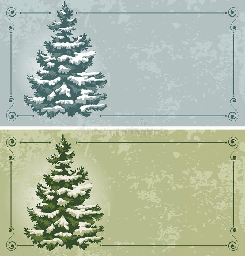 Vintage Christmas cards royalty free illustration