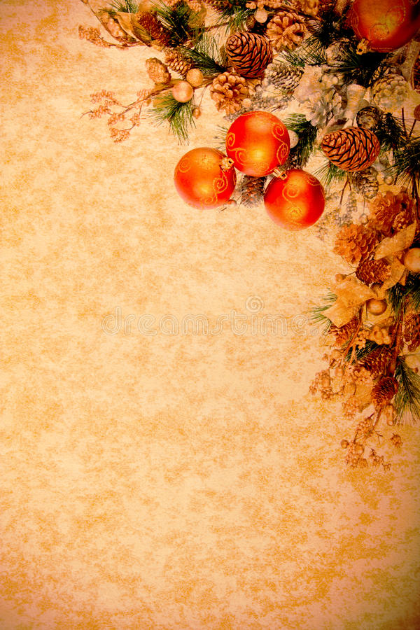 Vintage Christmas Decoration Series stock photo