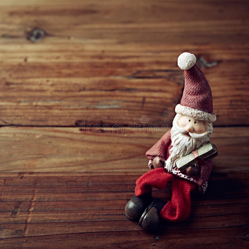 Vintage Christmas Decoration. On Wooden Surface stock image